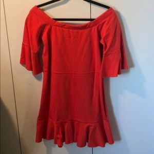 NWT Free People Off The Shoulder Ruffle Dress
